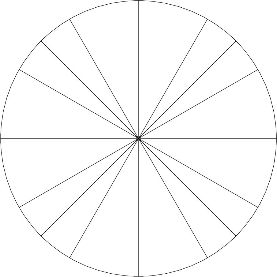 Filled in Unit Circle, unit circle printable